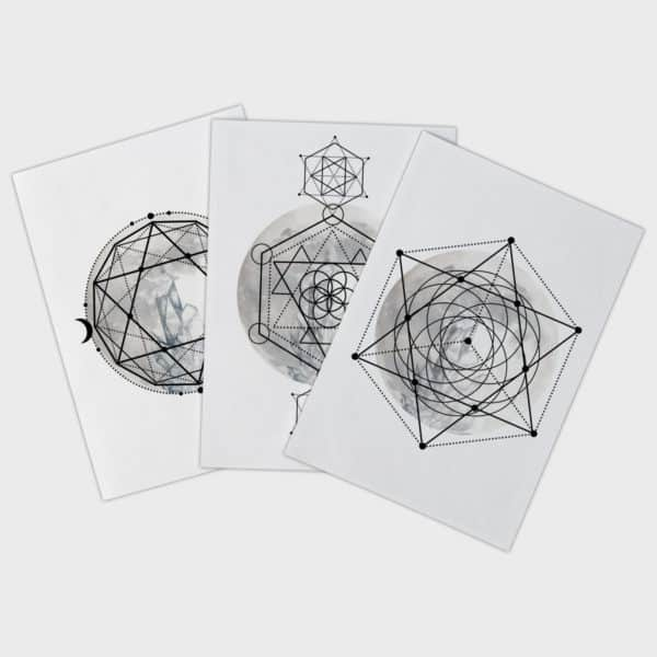 graphic about Printable Crystal Grid called Crystal Grid Mantra + Moon