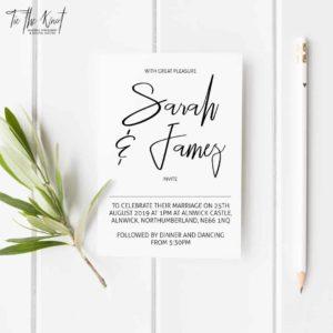 Billie Minimal Floral Wedding Invitations + RSVP