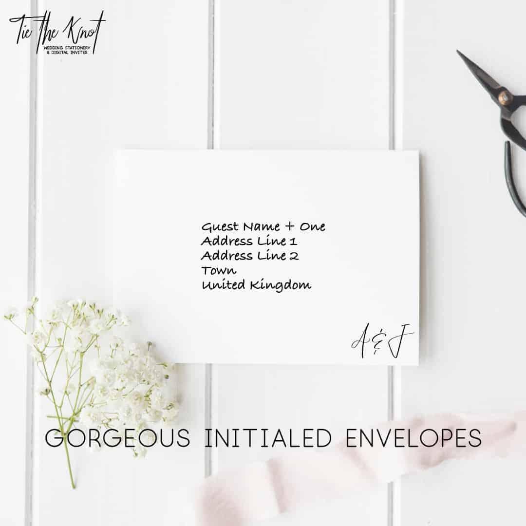 Personalised Printable Billie Minimal Wedding Invitations