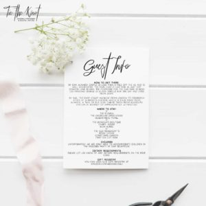 Personalised Printable Billie Minimal Floral Wedding Invitation Suite